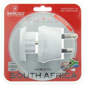 SKROSS Combo Steckeradapter World to Südafrika